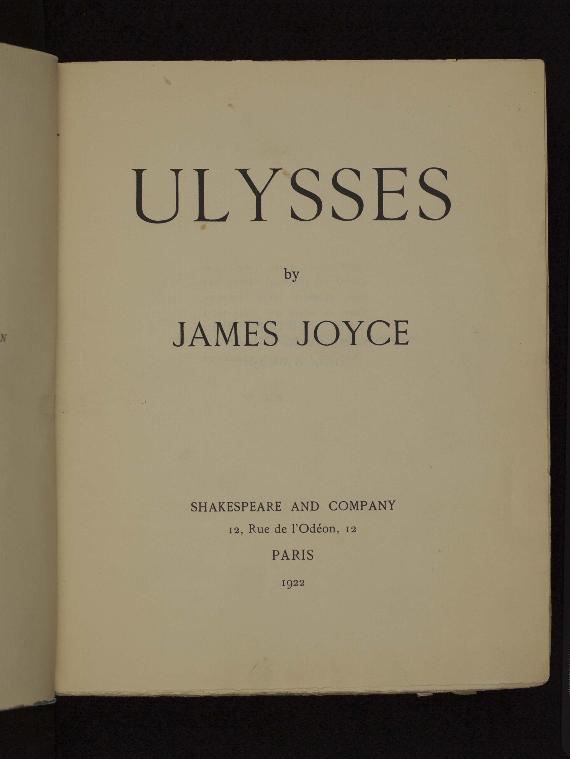 History of the book chapter 10 modern publishing figure 4 james joyce ulysses shakespeare and company paris 1922 pr6019 j85u 1922 the controversial book by james joyce was first published in this buycottarizona