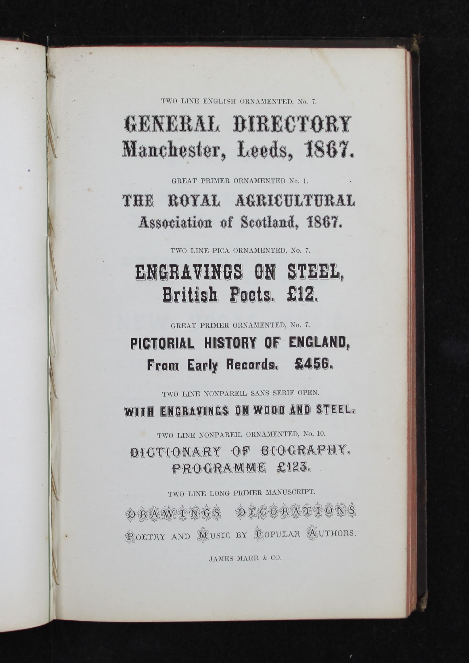 History Of The Book Chapter 9 Industrialization Print Gutenberg Printing Press Diagram As Suggests Figure 2a Marr Typefounding Company Specimens Ancient Modern Types Rules And Borders Edinburgh1800 Z250 M348s